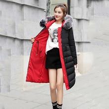 2020 winter women long slim jacket double two sides Korean style plus size hooded fur collar ladies coat casual cotton parkas