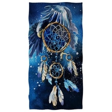 Soft Cotton Dream Catcher Print Face Hand Towel Bath Towel for Adult Kids Bathroom Washcloth Travel