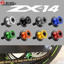 10mm Accessoires De Moto Pour KAWASAKI ZX-14 ZX14 NINJA 2020 2019 2018 2006 2016 2012 2013 2014 + Bras Oscillant Curseurs Bobines Vis