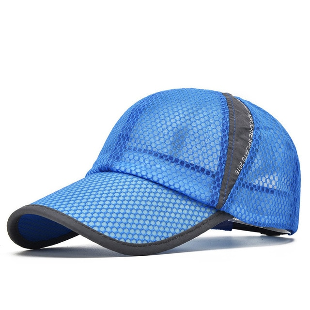 Men Women Quick-dry Sports Baseball Cap Snapback Sunhat Mesh Patchwork Outdoor Hiking Running Hip Hop Baseball Hats Casquette 4