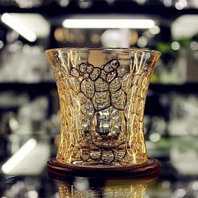 Copa De vino De Cristal De oro Trace, Boutique checa, Cann, Gafas...