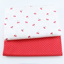 Cute Cherry 100% Cotton Twill Fabric For Baby Child, DIY Patchwork Cloth,Sewing Quilting Bed Sheet D