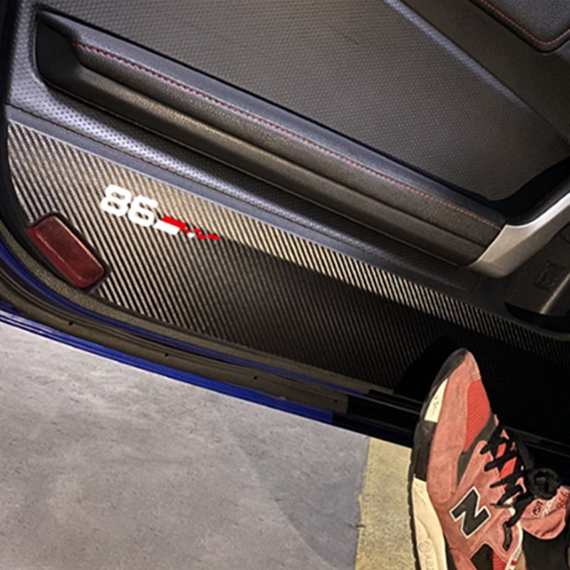 Car Interior Mouldings Door Anti-kick Pads PVC Leather Door Trim Covers Car stickers For Subaru BRZ Toyota 86 2013-2020