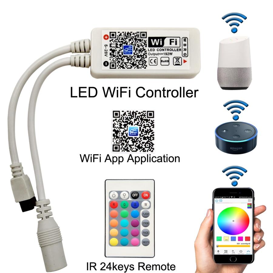 15M Wifi Strip RGB LED Strip Light Smd 5050 RGBW Waterproof Flexible Tape Diode Ribbon DC12V Power Set New Year Garland Christma enlarge