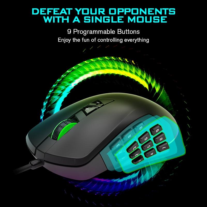 AJAZZ GTI Gaming Maus Optische Motor 800-5000DPI 3/9 Tasten USB 1000Hz Wired Maus Mit engineering modul