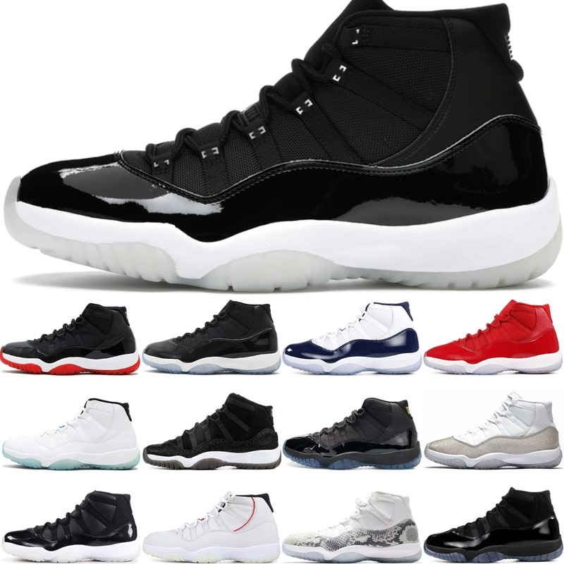 11 Basketball Shoes Mens Designer Shoes Casual Sneakers Outdoor Sports Trainer High Top Playoffs Jubilee 25th Anniversary