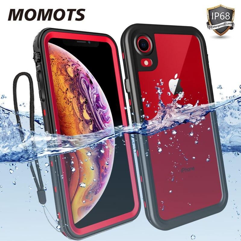 Funda impermeable a prueba de golpes momoots para iPhone 11 Pro MAX X XR XS MAX 360, funda de protección completa para natación y buceo