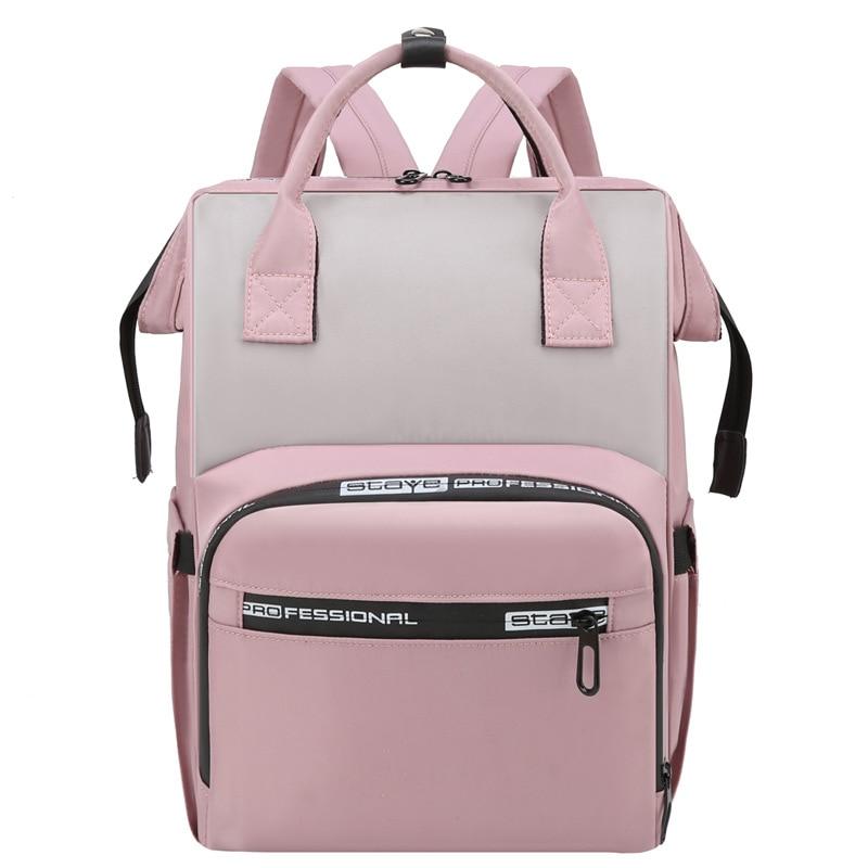Waterproof Pink Diaper Backpack Bag Maternity Nursing Bag Universal Large Woman Travel Baby Organizer Stroller Bags