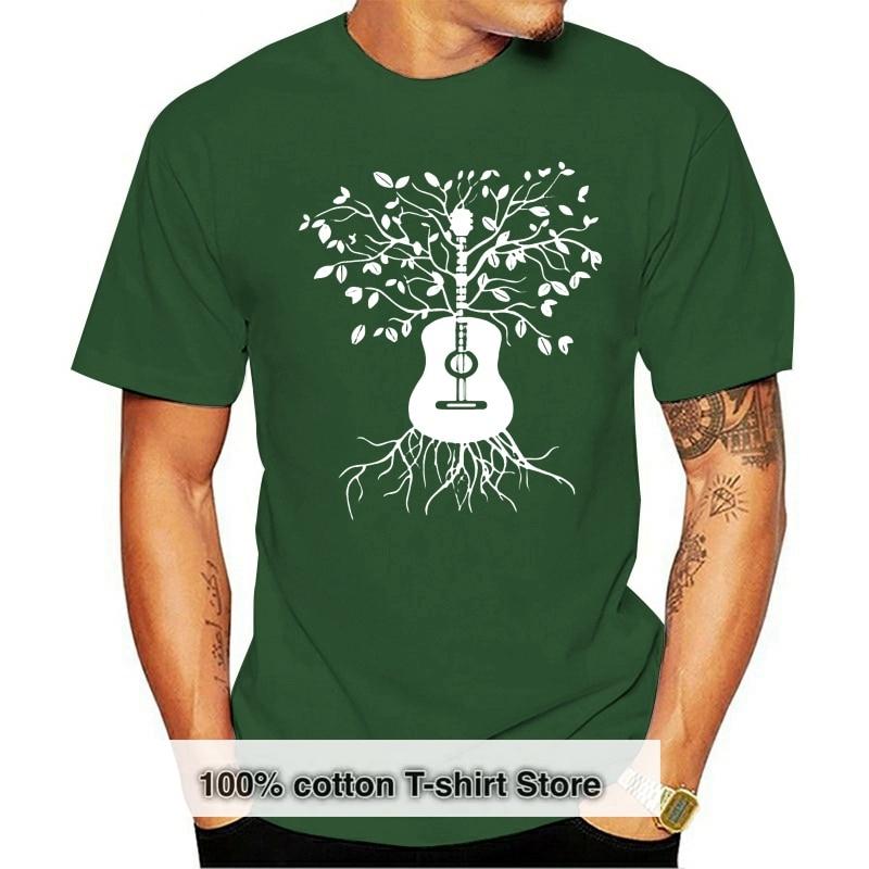 Camiseta de algodón con cuello redondo para guitarra acústica de guitarra eléctrica...