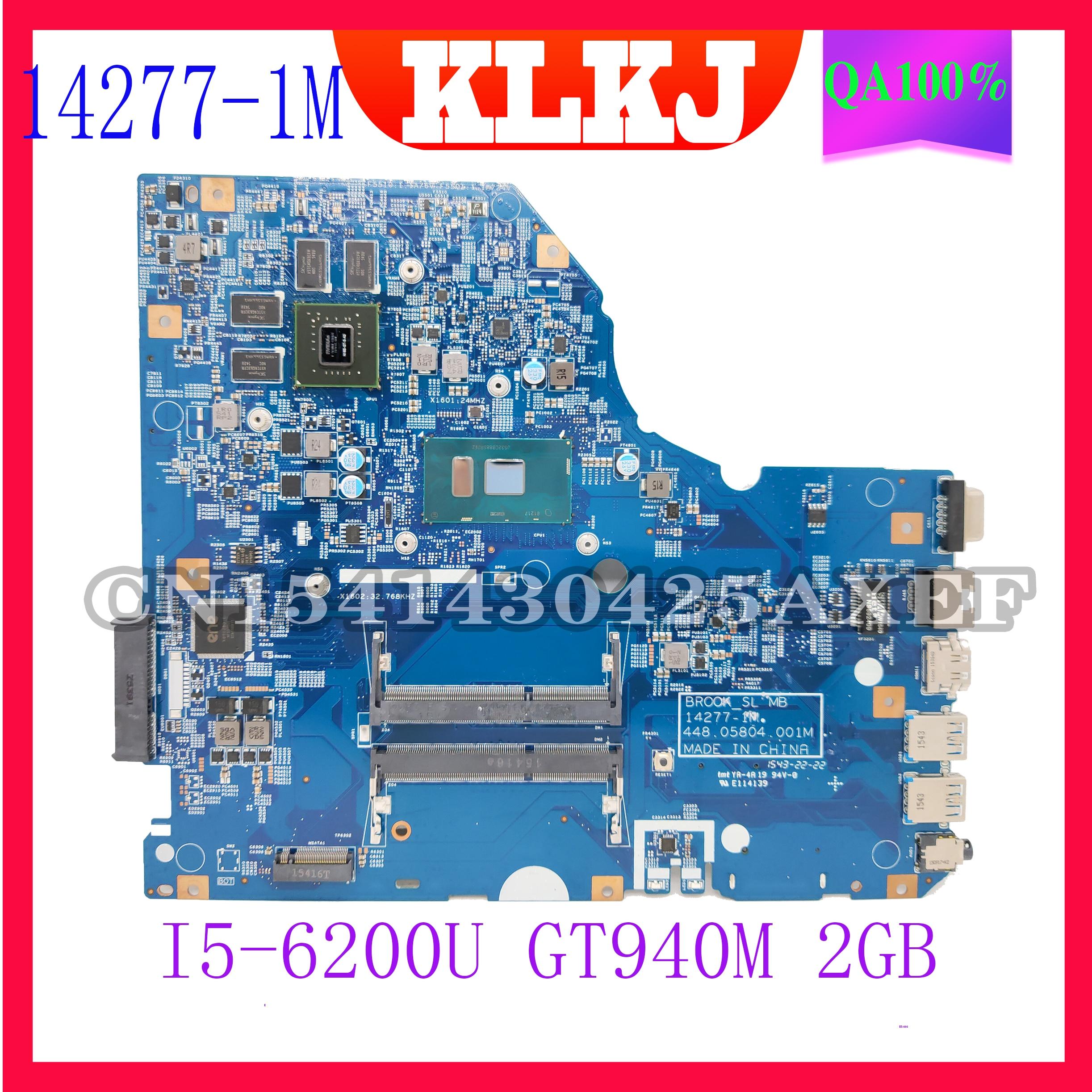Dinzi BROOK_SL 14277-1M الأصلي اللوحة مناسبة ل أيسر E5-773G E5-773 دفتر اللوحة I5-6200U GT940M-2GB