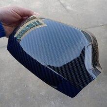 QDAEROHIVE 탄소 섬유 사이드 미러 커버 캡 크롬 도어 미러 커버 Mazda 3 6 2006-2012 용 고품질 자동차 스타일링