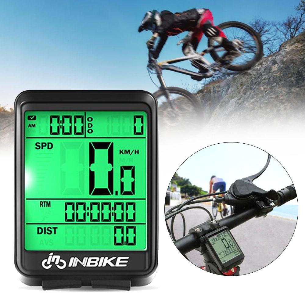 Велосипед Беспроводной Спидометр Водонепроницаемый Велосипедный компьютер с четырехъядерным процессором Подсветка Беспроводной проводной велосипедный спидометр часы светодиодный цифровой пульс