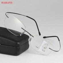WEARKAPER lunettes de lecture Progressive   zoom intelligent, en alliage de titane, lunettes de lecture Progressive, presbytes, hyperopie, multifocale, Glasse, hommes femmes