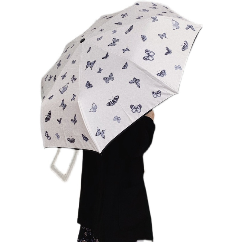 Women Umbrella Straight Rain Simplicity Handle Screent Umbrella UV Protection Waterproof White Paraplu Rain Gear AG50YS enlarge