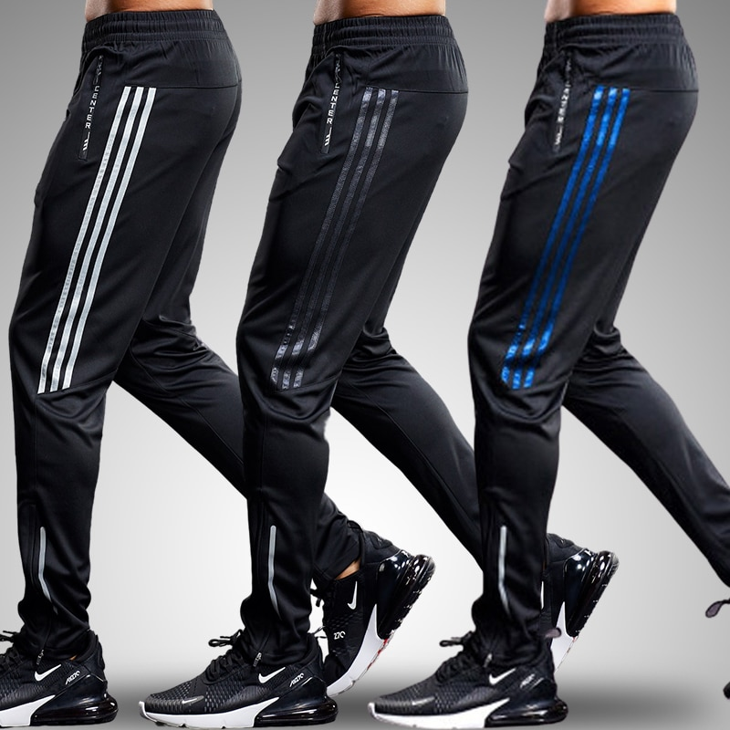 Sports pants for men fitness Leggings Running pant zipper Male Gym Cycling Jogging Trousers Workout Training summer track pant