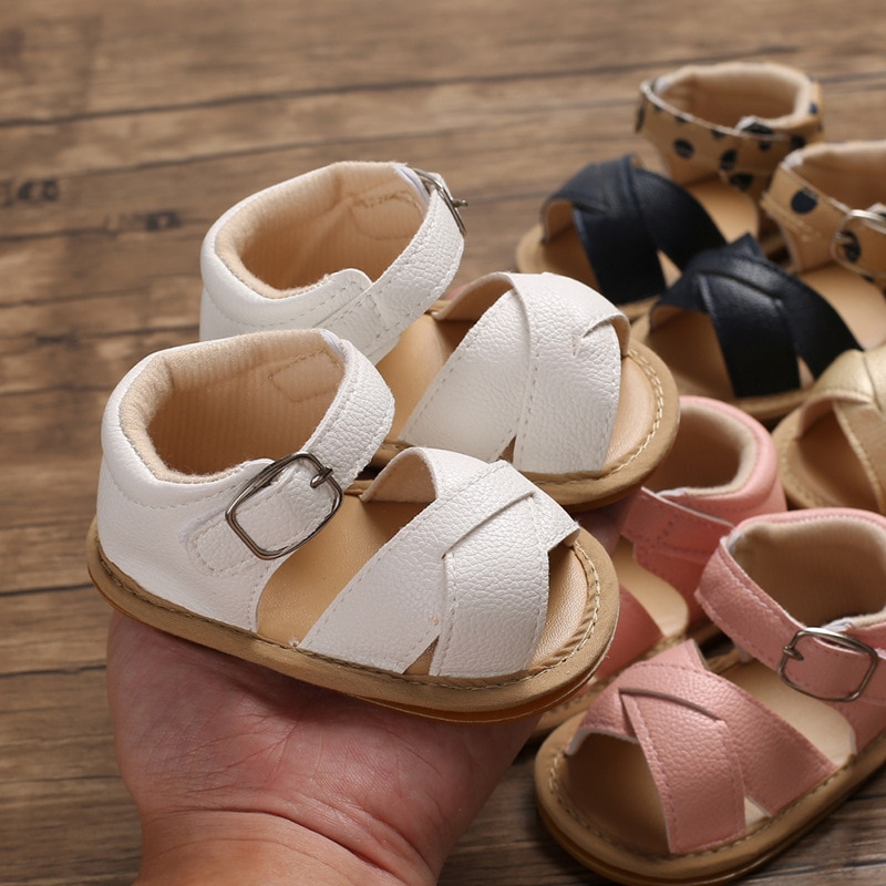 2021 wholesale factory children's sandals summer new 0-1 year old baby shoes non-slip oxford sole 0-12 months baby sandals baby