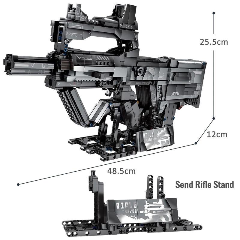 Military Assault Rifle Toys Science Fiction Film Model Building Blocks City Launch Gun SWAT Army Weapon Bricks Gifts Boys Kids 1