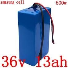 Batterie au Lithium 36V 13AH batterie de vélo électrique 36V 10ah 13ah 15ah batterie au Lithium ion utilisation cellule samsung avec chargeur 2A