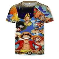 childrens t shirts baby t shirts boys short sleeved 3d printing anime girls clothing soft fabric o neck cartoon hip hop top