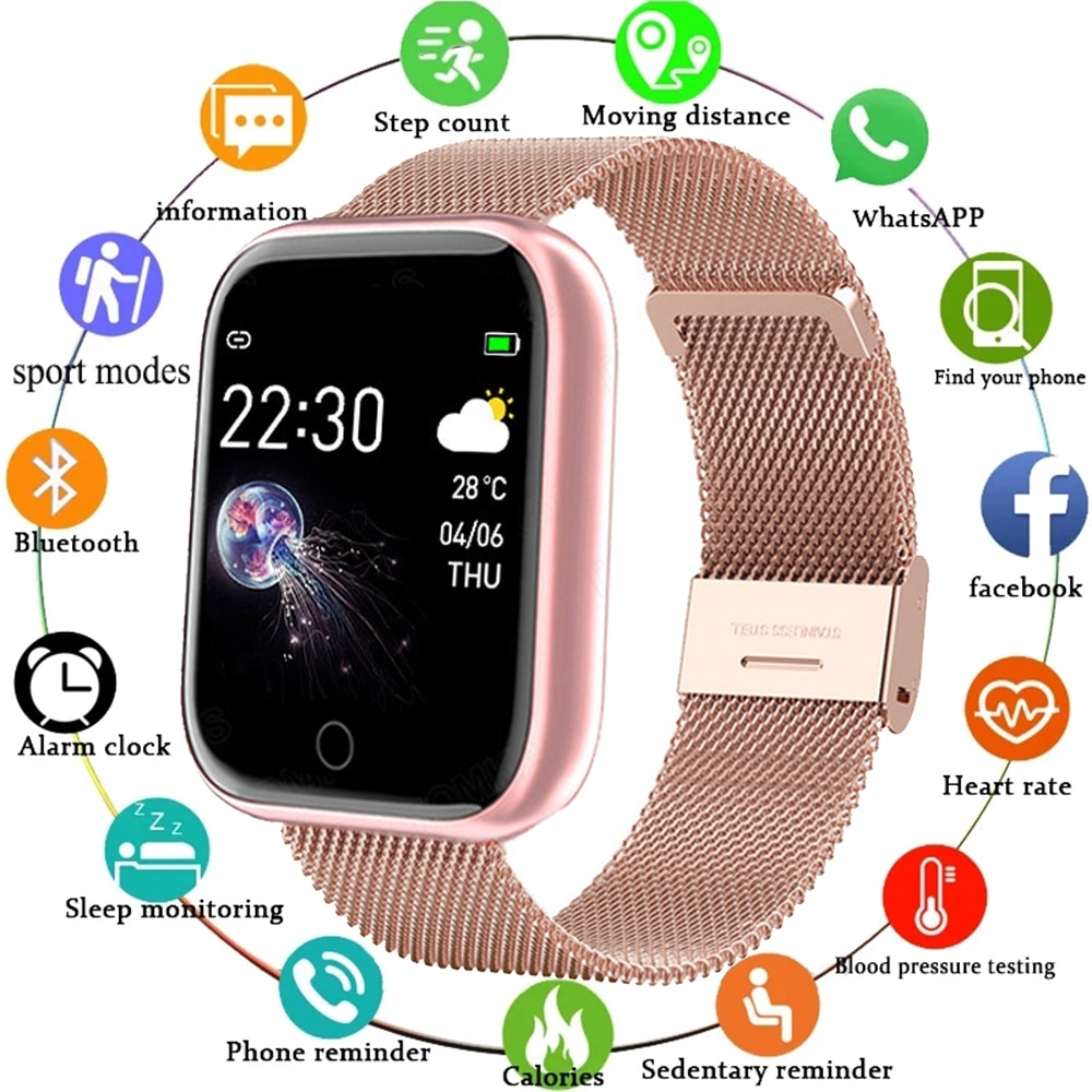 finow x3 plus k9 bluetooth smart watch android 5 1 mtk6580 quad core 1gb 8gb heart rate smartwatch clock for ios android pk kw88 I5 Sport Smartwatch Women Men Heart Rate Blood Pressure Fitness Tracker Kids Smart Clock For Android IOS Smart Watch PK IWO P80