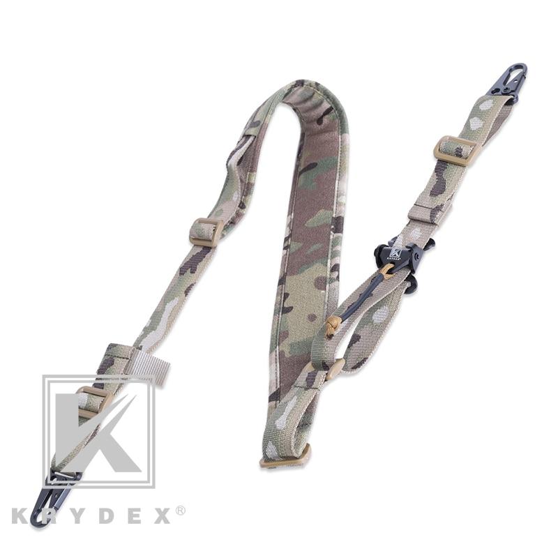 KRYDEX-حزام تكتيكي للبندقية ، قابل للإزالة ، 2 نقطة/1 نقطة ، 2.25 بوصة ، قتالي معياري ، ملحقات MC