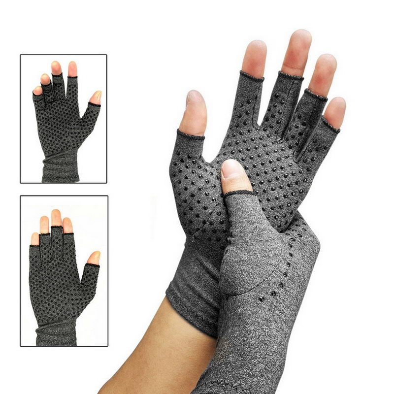 Compression Arthritis Gloves Point Arthritic Joint Pain Relief Hand Gloves Women Man Hand Care M2