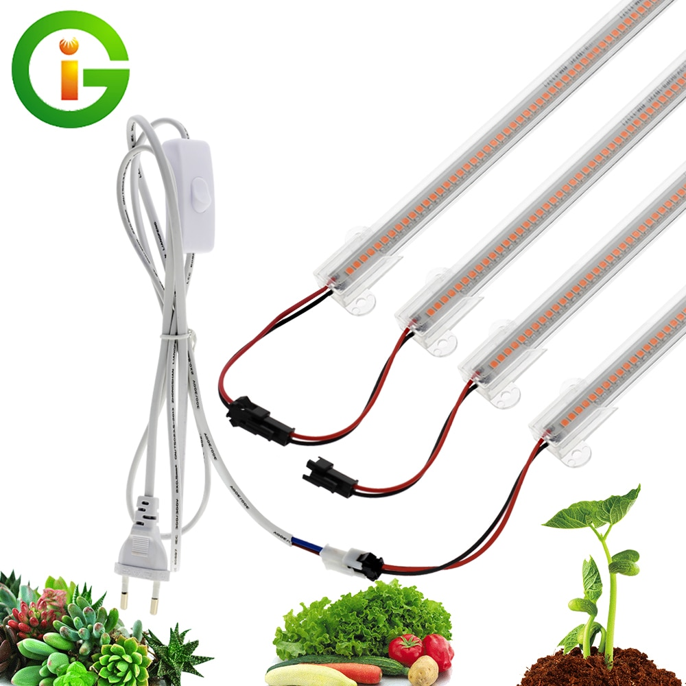 LED Grow Light 220V Full Spectrum LED Bar Lamp for Plants High Luminous Efficiency 8W 50/30cm for Grow Tent Greenhouses Flowers