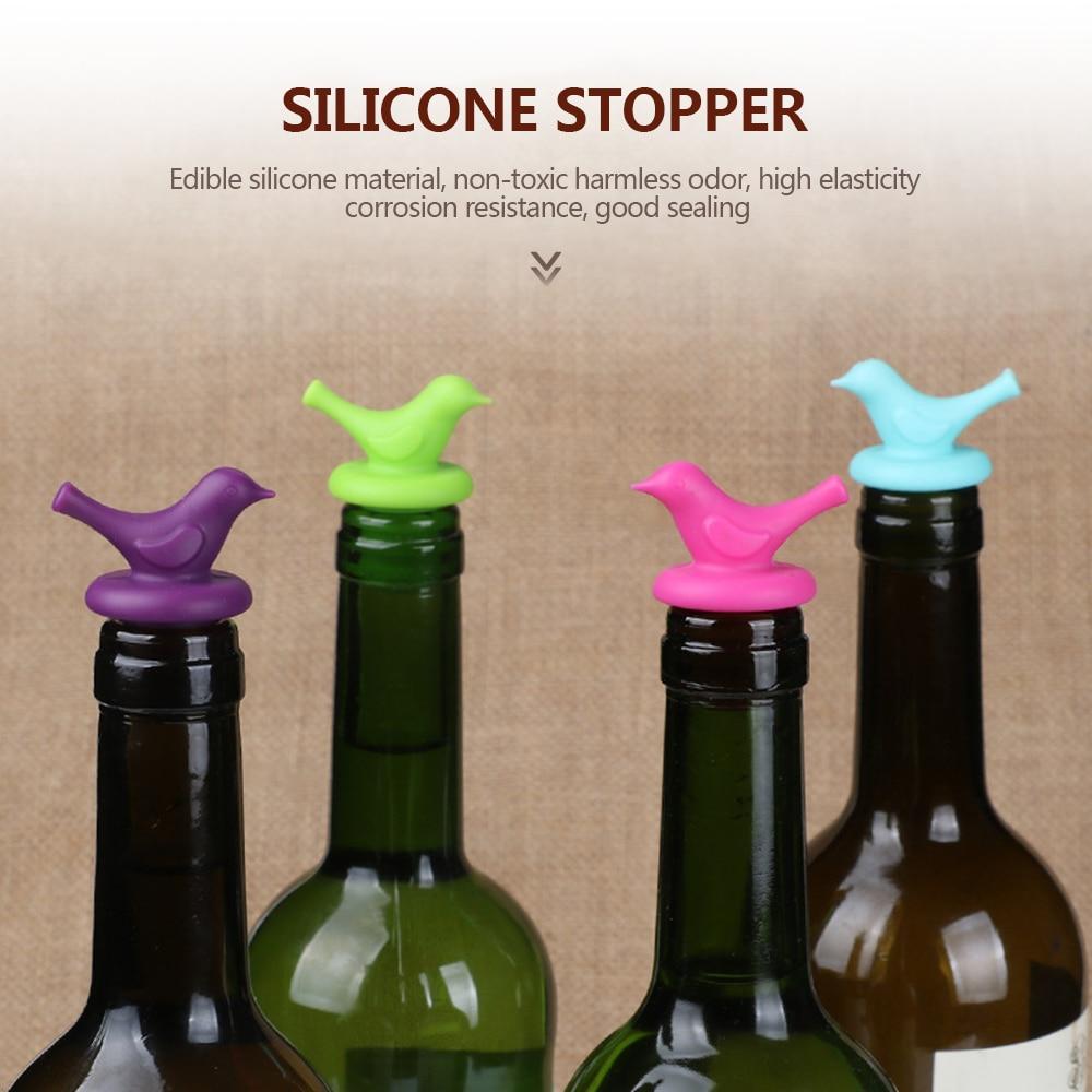 Creativo de silicona cerveza vino tinto corcho tapón tapa para botella cubierta Cruet Bar suministros utensilios de cocina Accesorios