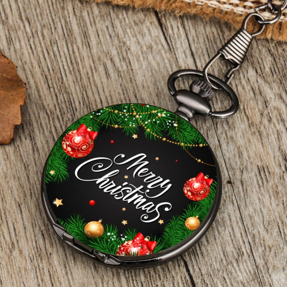 Карманные кварцевые часы из мультфильма Рождественская серия ювелирные карманные часы с подвеской подарок Детские мужские и женские часы