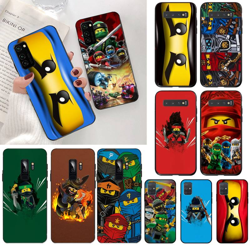 HPCHCJHM ninjago Guerrero, funda de teléfono de silicona negra suave para Samsung S20 plus, Ultra S7 S6 edge S8 S9 plus S10 5G lite 2020