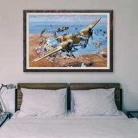 Peinture retro classique T059  18 affiches en soie personnalisees  operations de vol davion de guerre  Art mural de decoration de maison  cadeau de noel