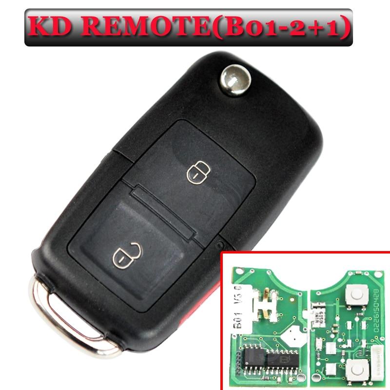Free shipping(1piece) B01  2+1 Button kd remote key  for vw Style key For KD900(KD200) Machine