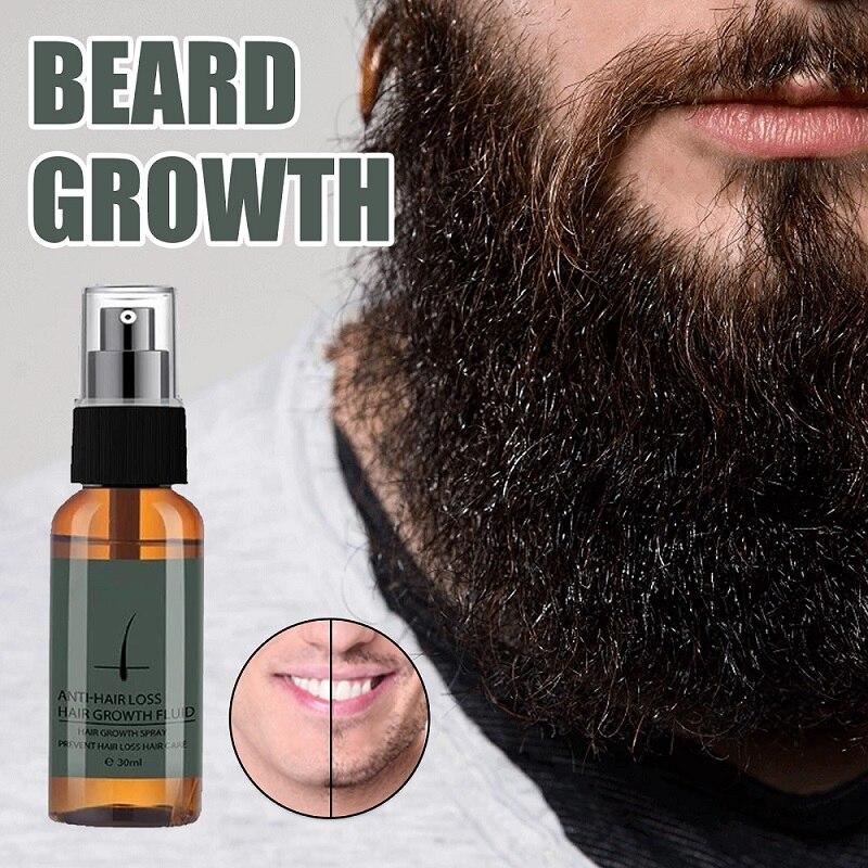 Beard Growth Spray Men's Hair Growth Enhancer Set Beard Growth Essentital Oil Facial Beard Care Set