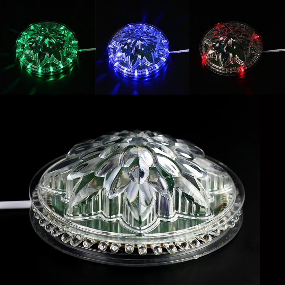 festa de palco clube ktv disco lampada led rgb efeito de luz 8w iluminacao girassol automatico