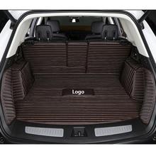 custom Logo Car trunk mat for Volkswagen VW passat golf tiguan sharan jetta Variant UP Multivan Scirocco magot polo touran