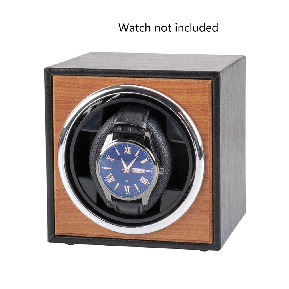 USB Power Supply Black Mechanical Watch Winding Box Case Motor Shaker Mini Watch Winder Holder Displ