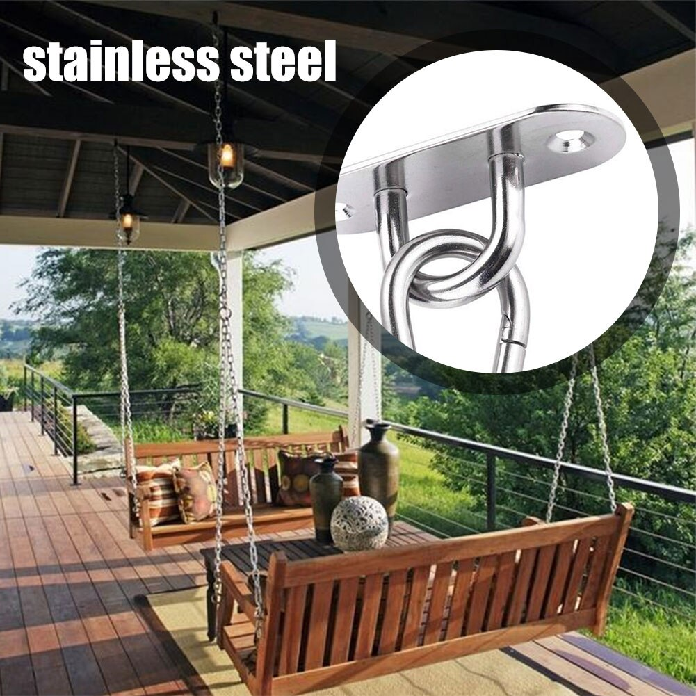Hammock Chair Furniture Hanging Kit 304 Stainless Steel Heavy Duty Sturdy Hook Mounting Kit For Swing Chair Yoga Exercise