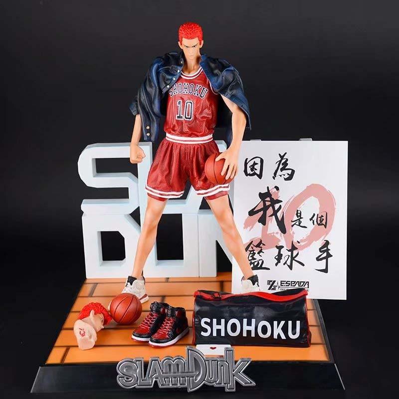 Anime SLAM DUNK Action Figur EIN geburtstagsgeschenk Veränderbar kopf Lose mantel Hanamichi Sakuragi Modell Spielzeug