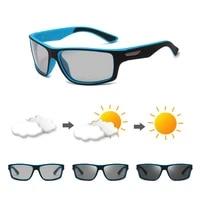 fashion polarized photochromic chameleonsquare sunglasses square men women sun glases uv400 polaroid sunglasses for women men