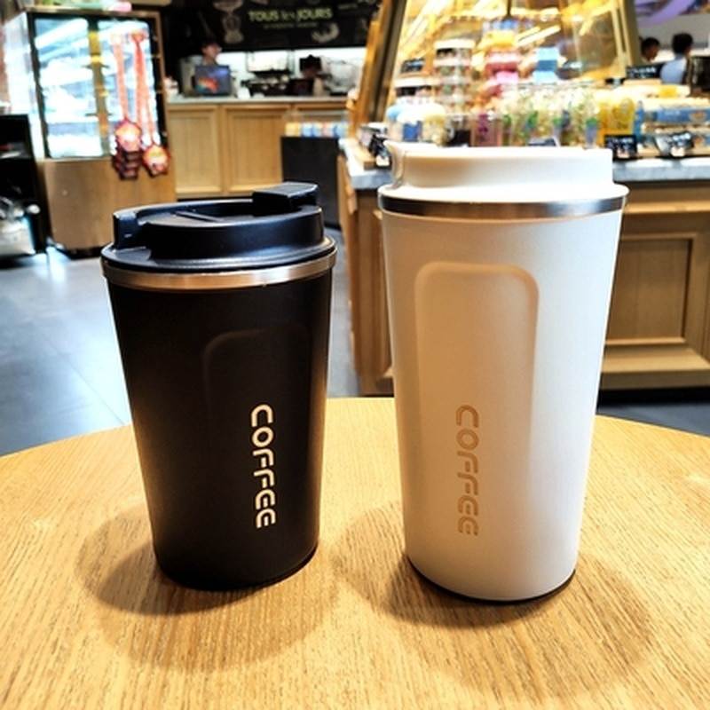 Double Stainless steel Coffee Mug Thickened Big Car Thermos Mug Travel Thermo Cup Thermosmug For Gifts 510/380ML Thermos Flask