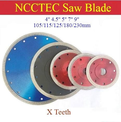 [X teeth] 4'' 4.5'' 5'' 7'' 9'' Turbo diamond saw blade   105/115/125/180/230 mm Porcelain Tile Ceramic DRY cutting discs