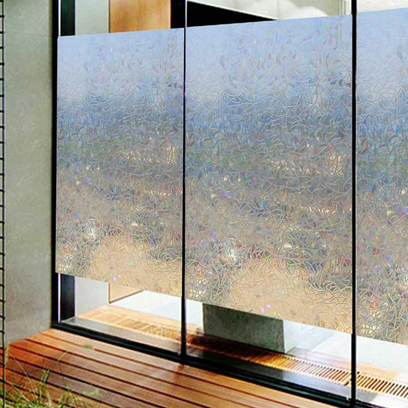 3D Decorative Window Film Removable Stained Privac Glass Window Sticker Self-adhesive Vinyl Static Anti Uv Glass Tint Film