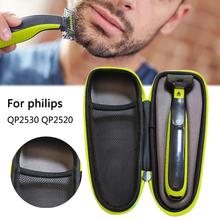 Travel Shaver Case Razor Storage Bag Holder with Zipper for PHILIPS QP2530 QP2520 Electric Shaver Carrying Case Shockproof