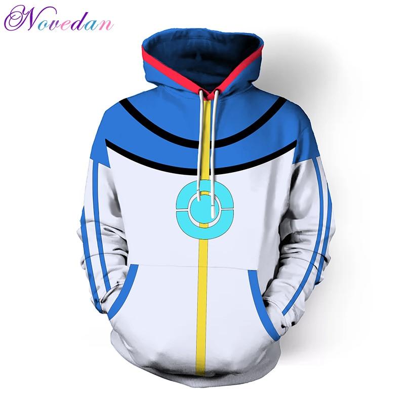 Pokemon Ash Ketchum Cosplay Custom Blue Jacket Ash Ketchum Children Hoodie Sweatshirts New Fashion Adult Hoodie