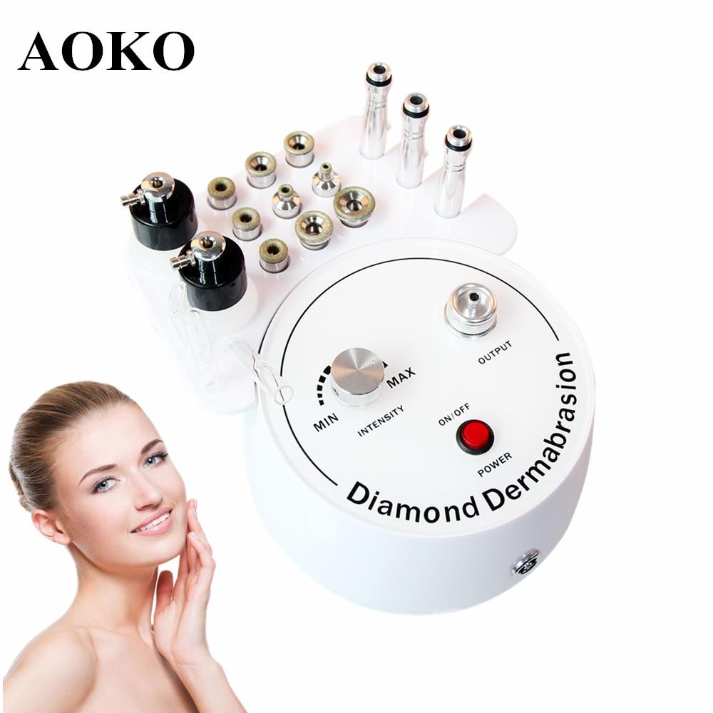 AOKO 3 في 1 الماس اللوازم الطبية جهاز تجميل فراغ شفط أداة رذاذ الماء الوجه ترطيب الوجه تقشير الجلد