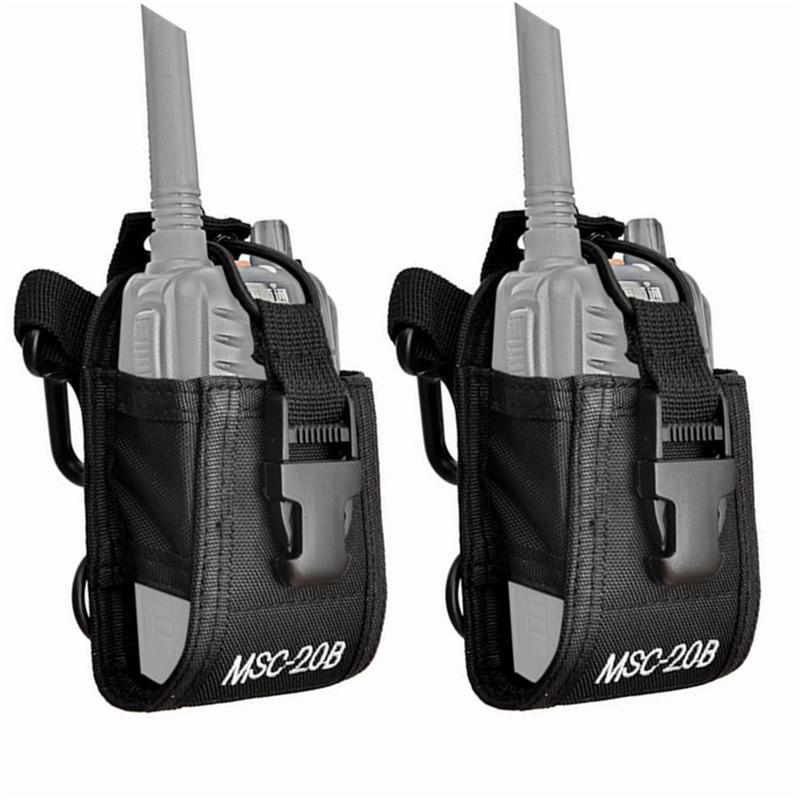2 piezas Multi-función portátil Walkie Talkie bolsa Universal Radio caso para $TERM impacto Baofeng UV-5R UV-5RA Plus UV B5 UV-82 UV 5R para Motorola