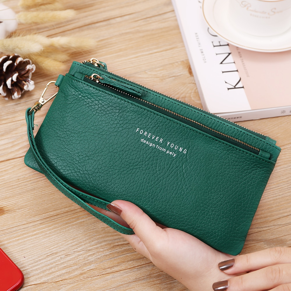 AliExpress - X.D.BOLO Fashion Wallet Genuine Leather Women's Wallets Card Holder Female Wallet Coin Pocket Womans Wallet for Money