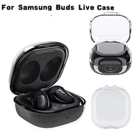 clear soft cover for samsung galaxy buds live case earphone accessories shockproof soft silicone earphone protective case coque