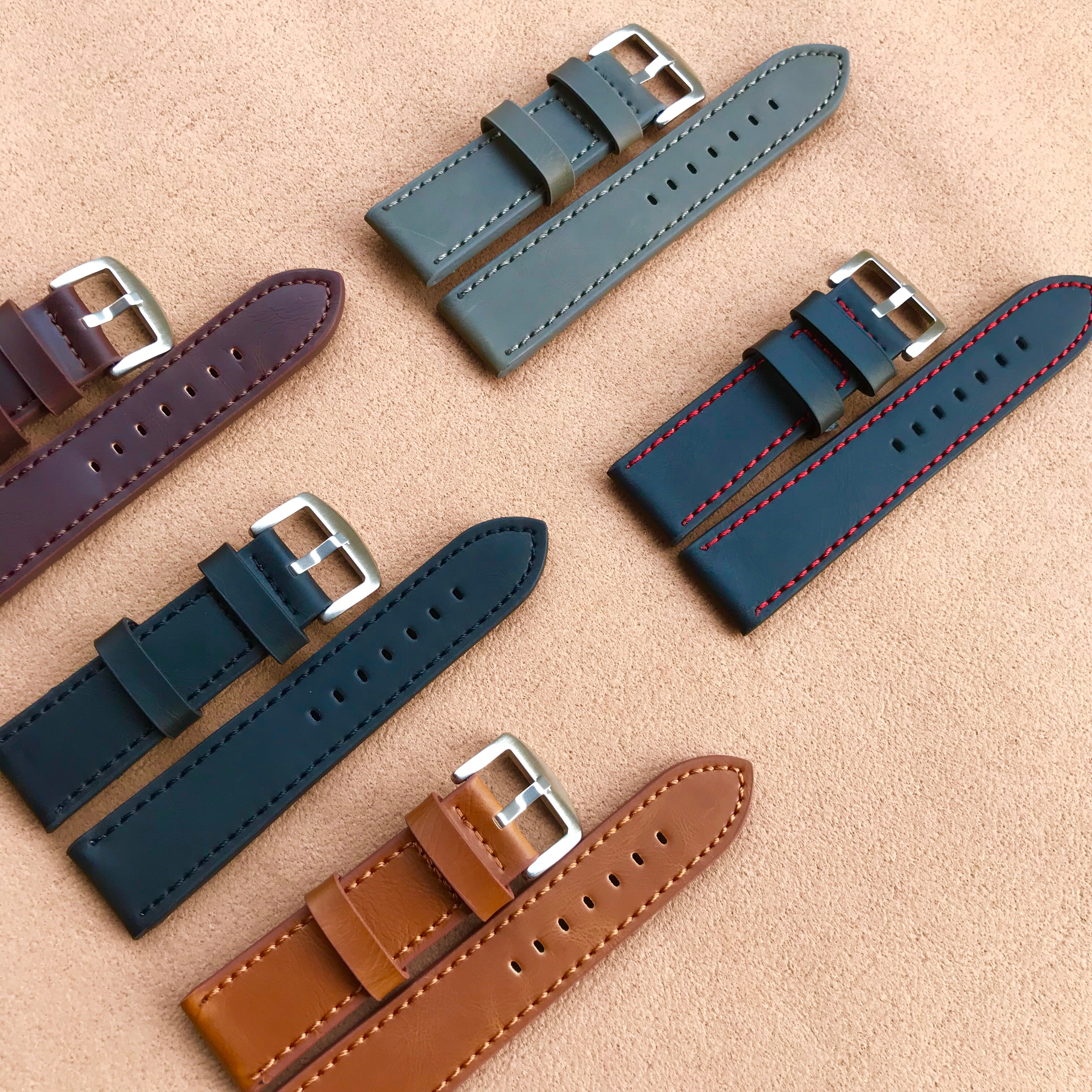 Fashion Vintage Watch Band Strap Sport PU Leather Watchband Stainless Steel Buckle Clasp Watch Acces
