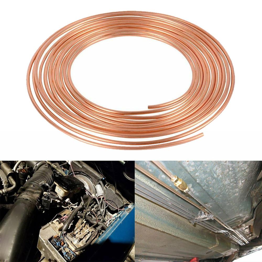 Tubing Copper oil pipe 25Foot Coil Roll 1/4inch OD Steel Brake Repair Tube